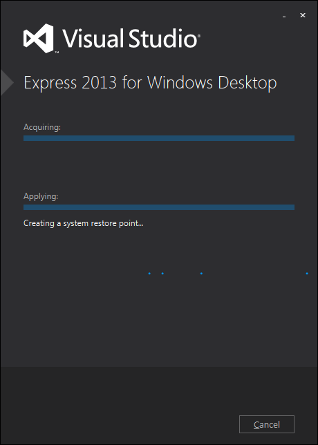 Visual Studio Express 2013 インストール2