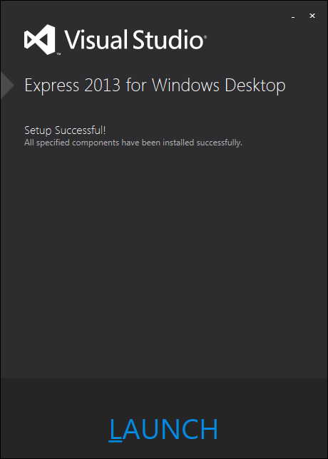 Visual Studio Express 2013 インストール3